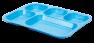 Blue Fiberlgass Cafeteria Trays by MFG Tray