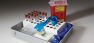 Medical Laboratory Nesting Containers by MFG Tray