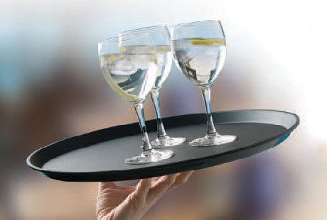 Fiberglass Non-Slip Serving Trays by MFG Tray