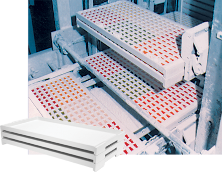Fiberglass Starch Trays & Fiberglass Confectionery Trays by MFG Tray