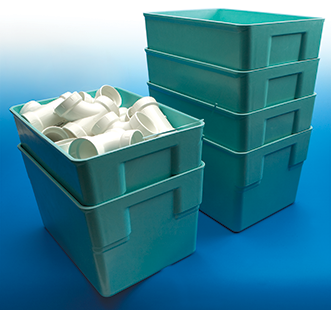 Fiberglass Material Handling Nesting Containers from MFG Tray